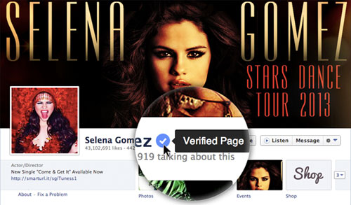 Verified pages